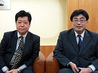 NTTドコモの澤井氏(左)と水木氏(右)