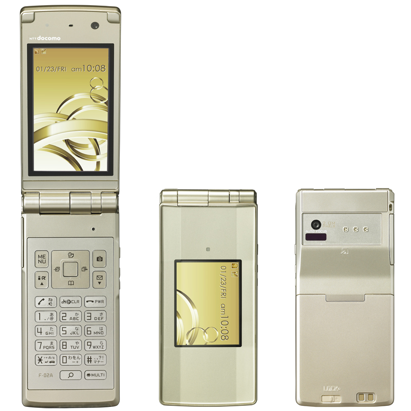F-02A(富士通)——水晶设计 日本最大2英寸外屏防水手机 - 只谈日本手机 - 只谈日本手机 国内首个日本手机专属频道