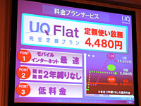 UQ WiMAXの料金プラン