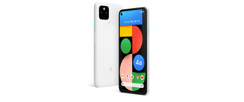 Pixel 4a(5G) Clearly White