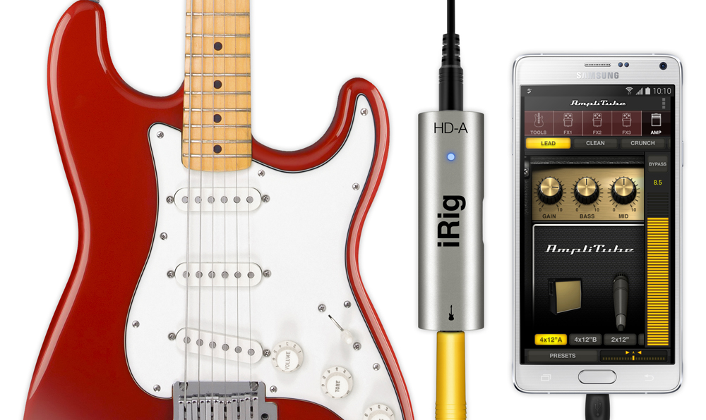 AmpliTube for AndroidとiRig HD-A