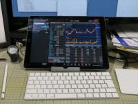 177e04938f パソコンのディスプレイとキーボードのあいだにiPad Proを設置している