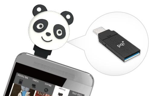 スマホ・PC両対応、ネコとパンダのUSBフラッシュドライブ